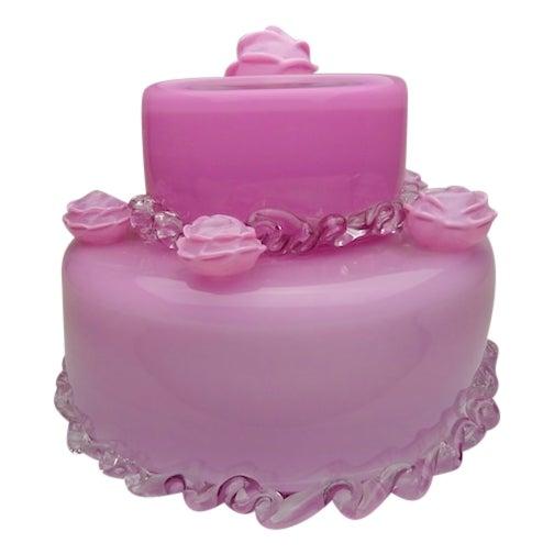 "Jason Minami's ""The Pink Cake"" Glass Statue - Image 1 of 3"