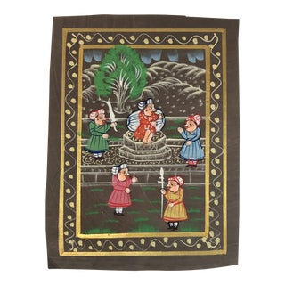 Hand Painted Indian Textile
