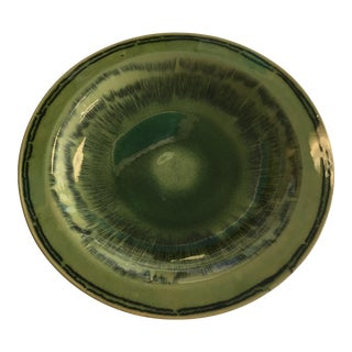 Large Green Glazed Display Bowl