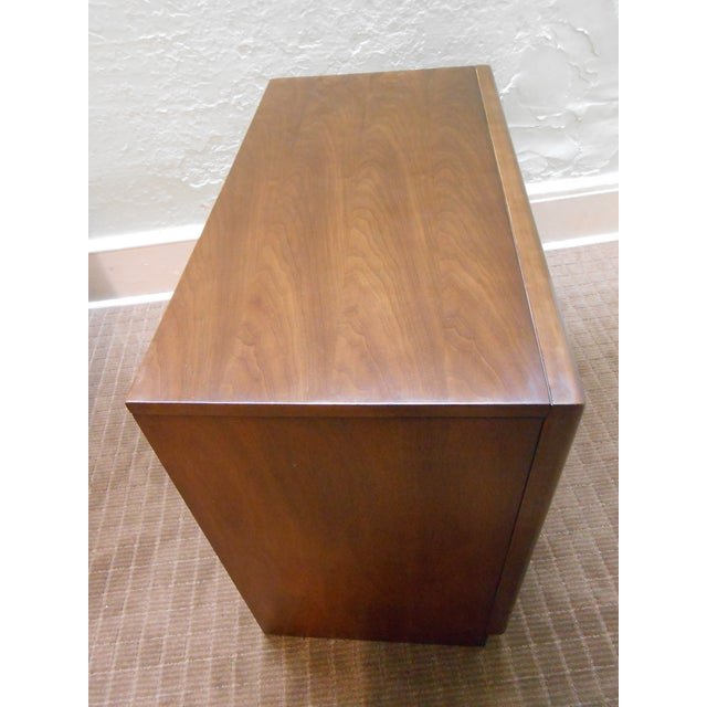 Image of Mid Century Modern Walnut Bachelors Chests - Pair