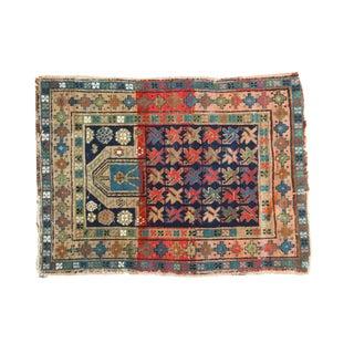 """Vintage Caucasian Prayer Square Rug - 2'10"""" x 3'10"""""""