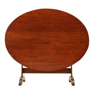Unusually Large Reproduction French Cherry Tilt-Top Wine Table