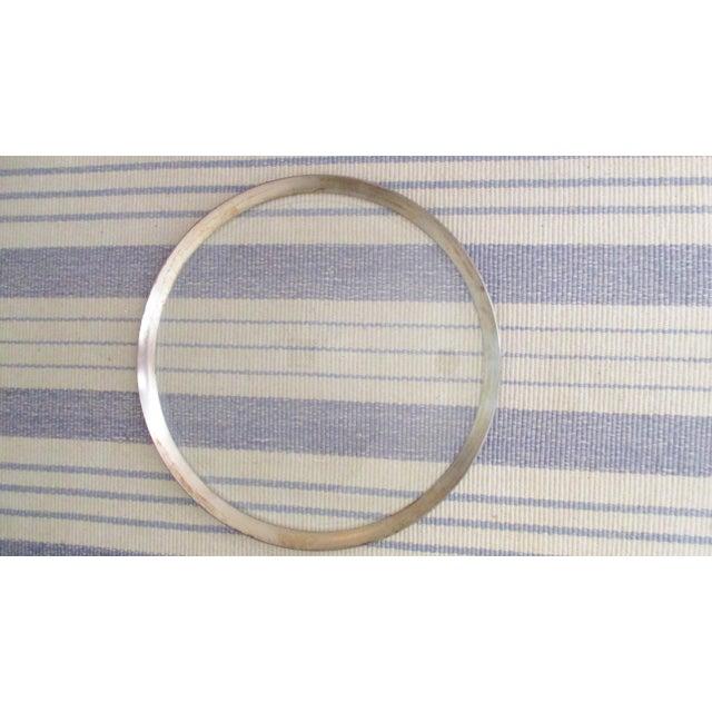 Dorothy Thorpe Mid-Century Glass Silver Rim Tray - Image 7 of 11
