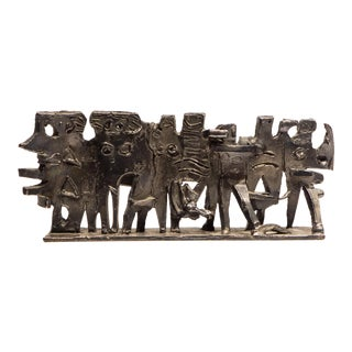 """Abbott Pattison Sculpture """"The Exodus"""" in Sterling Silver"""