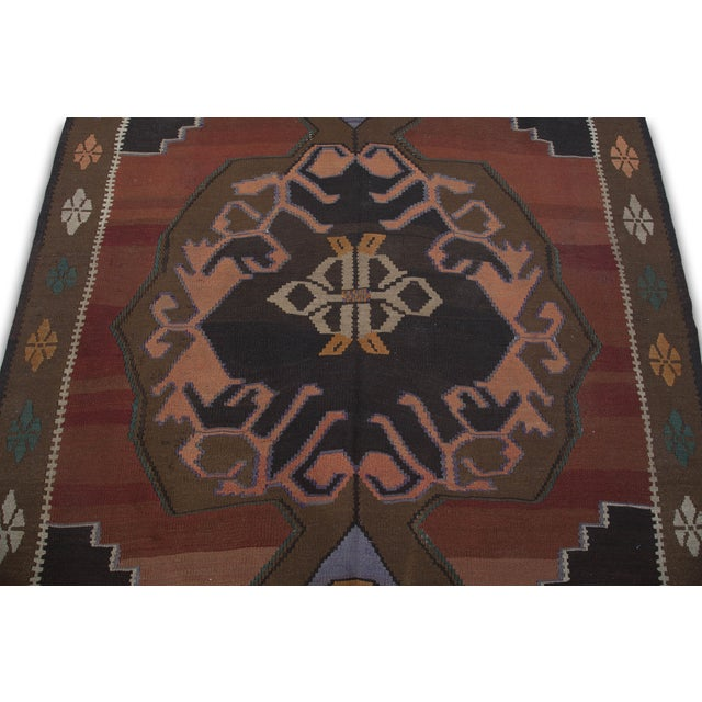 "Hand-Woven Turkish Kilim Rug - 6'7"" X 11'3"" - Image 6 of 10"