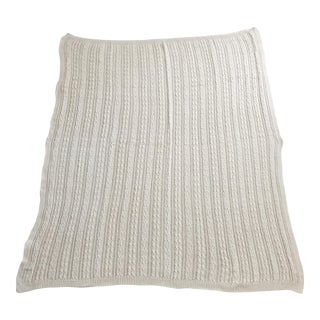 Ivory Cable Knit Throw