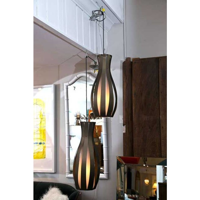 Resolute Modern Pendant Lights A Pair Chairish
