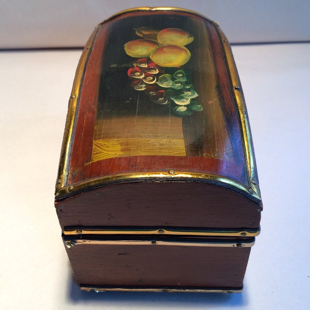 Vintage Hand Painted Fruit Motif Wooden Box - Image 4 of 11