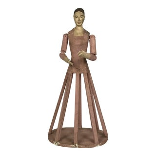 Hand Carved Wood Cage Doll Mannequin