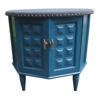 Retro Upholstered End Table