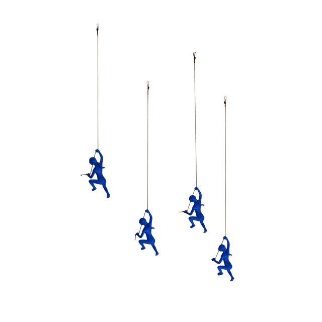 Blue Climbing Girl Wall Art - Image 1 of 8