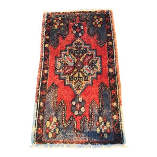 "Vintage Turkish Anatolian Bath Mat - 1'8""x3'1"""