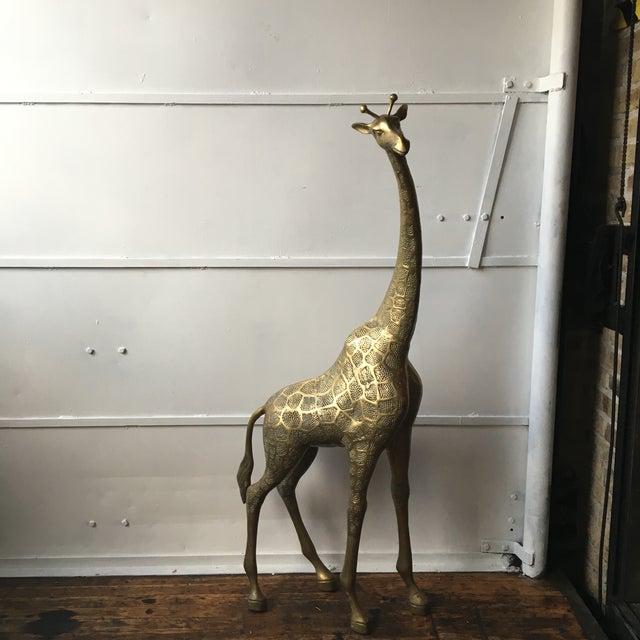 Lifesize Brass Giraffe - Image 3 of 8
