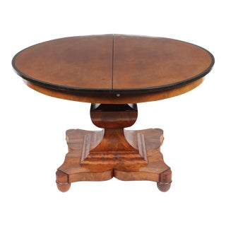 19th-C. English Empire-Sty Center Table