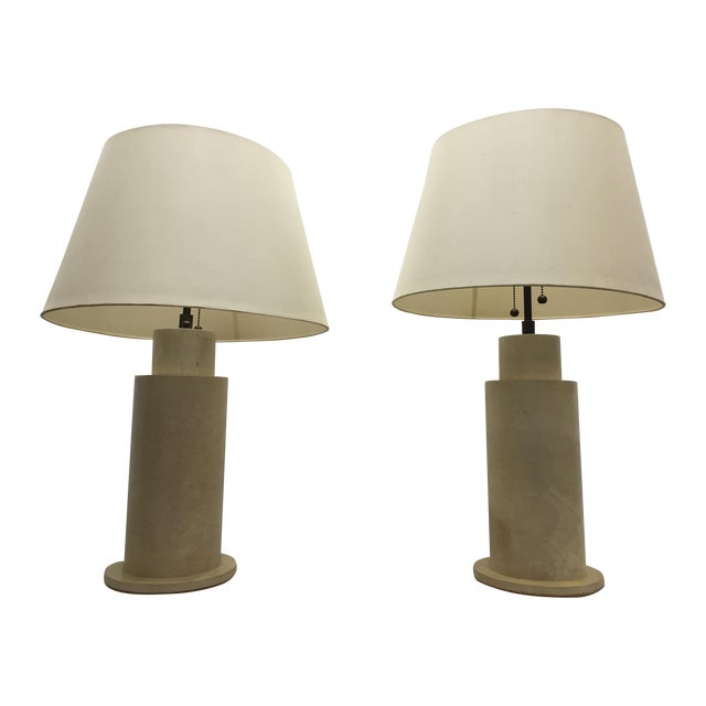 Image of Karl Springer Goat Skin Parchment Lamps - Pair