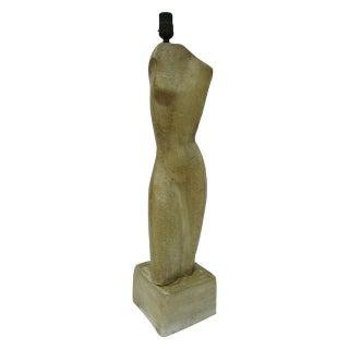 Abstract Sculptural Torso Form Lamp