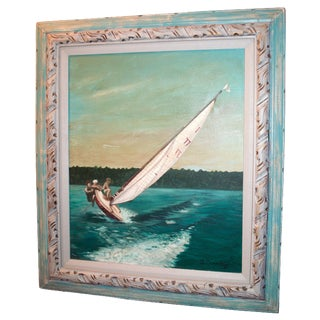 Boys on a Sailboat Painting