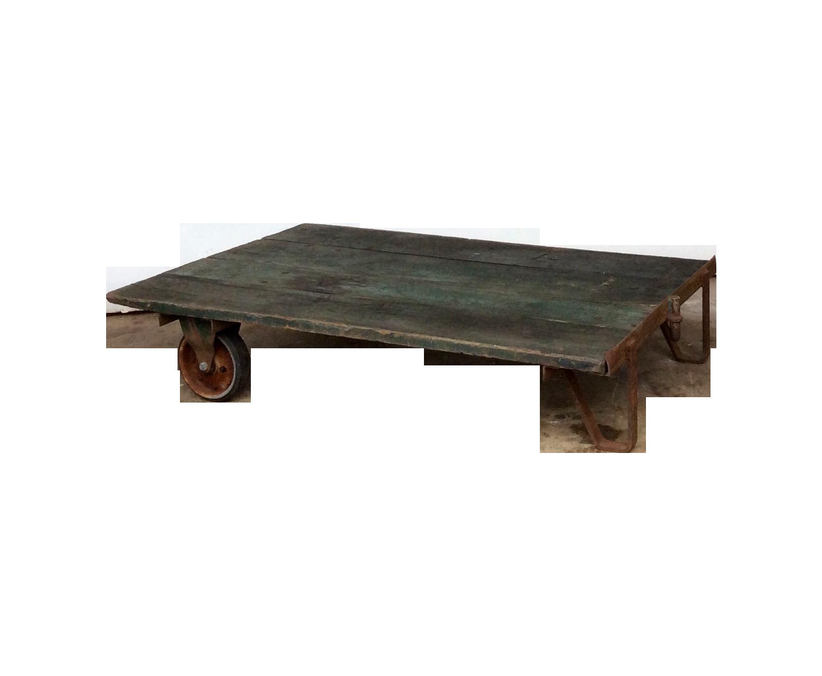 vintage railroad cart coffee table chairish
