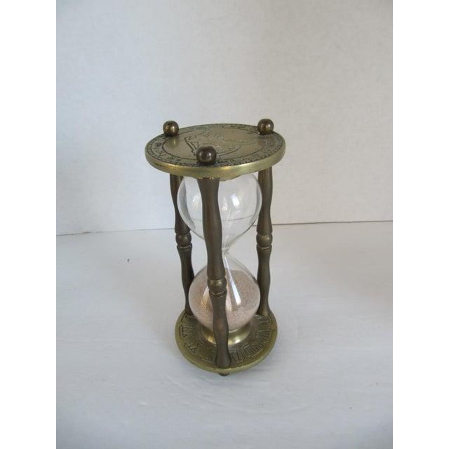 Vintage Brass Zodiac Hour Glass - Image 6 of 6