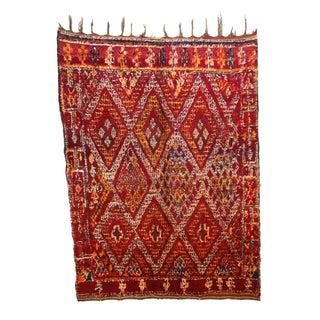 "Vintage Beni M'Guild Moroccan Berber Rug - 6'5"" X 8'5"""