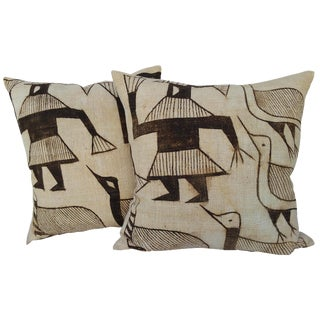 African Hand Woven Tribal Pillows - A Pair