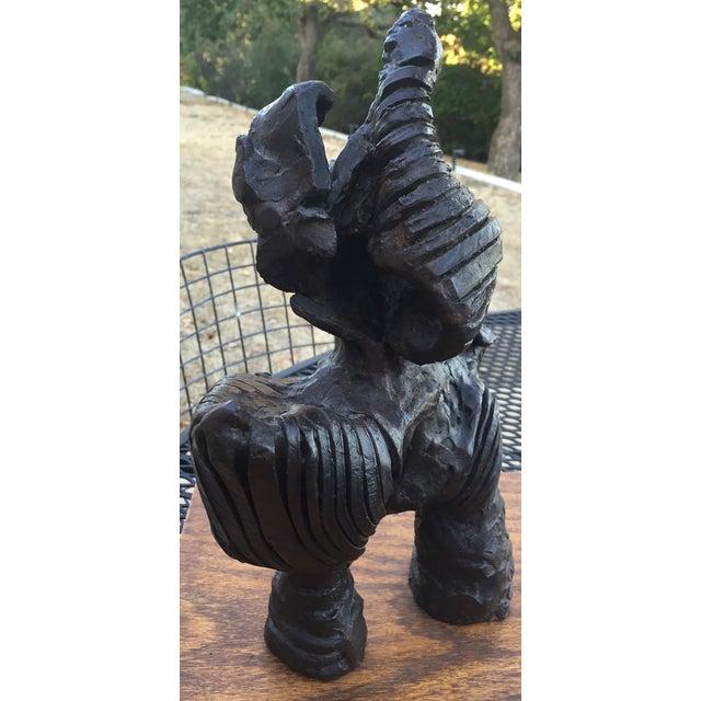 Image of Vintage Abstract Brutalist Bronze Sculpture Modern
