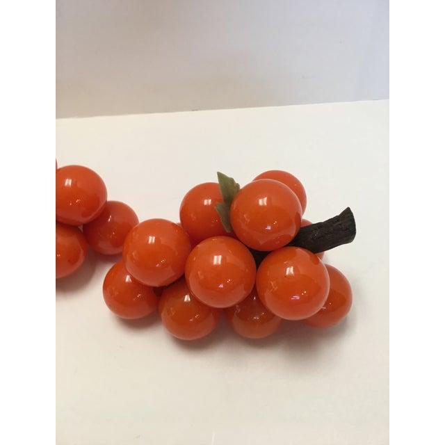 Mid-Century Orange Lucite Grapes - A Pair - Image 7 of 11