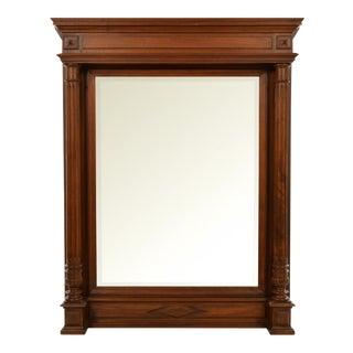 19th Century French Walnut Frame Wall Mirror