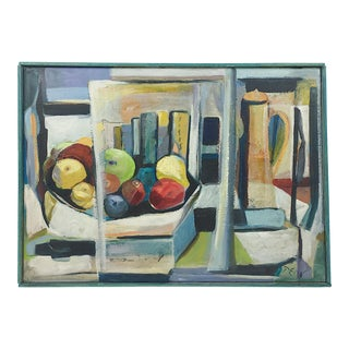 Deon Robertson Framed Still Life Oil on Canvas Painting