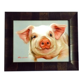 Ray Dencon Pig Oil Painting