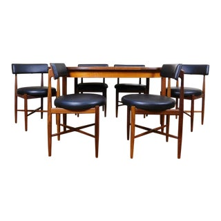 G-Plan Victor Wilkins Mid-Century Modern Teak Extendable Dining Table & 6 Chairs