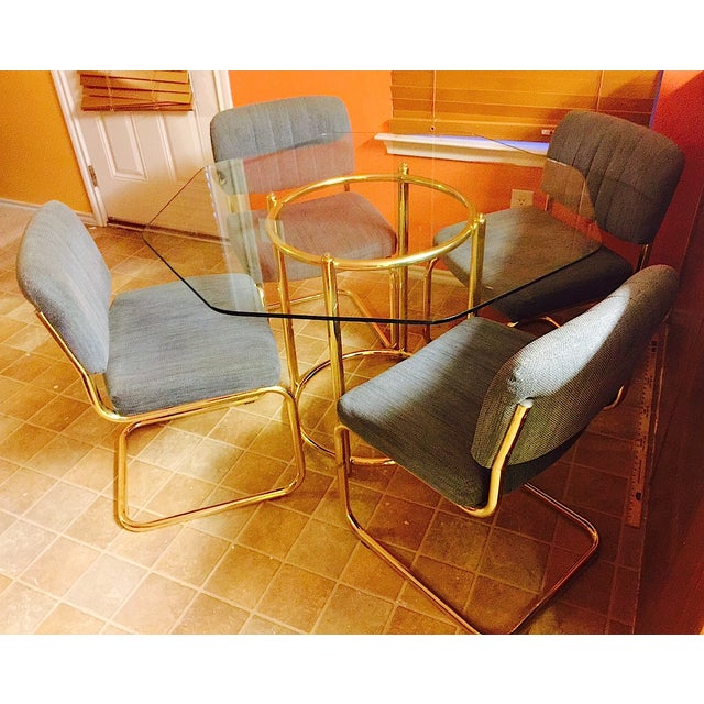 Image of Chromcraft Mid-Century Dining Table & Four Chairs