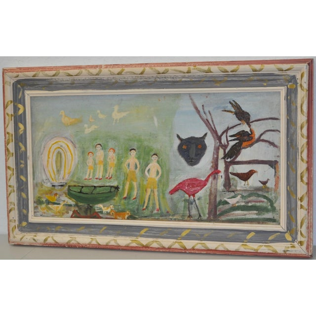 Vintage 1930s Outsider Folk Art Painting by Ursula Barnes - Image 3 of 10