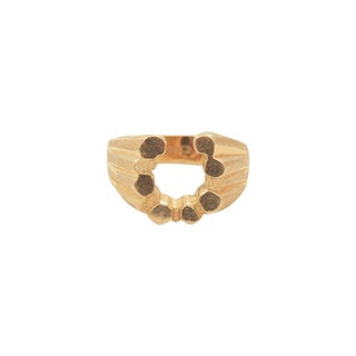 14K Yellow Gold Horseshoe Nugget Ring