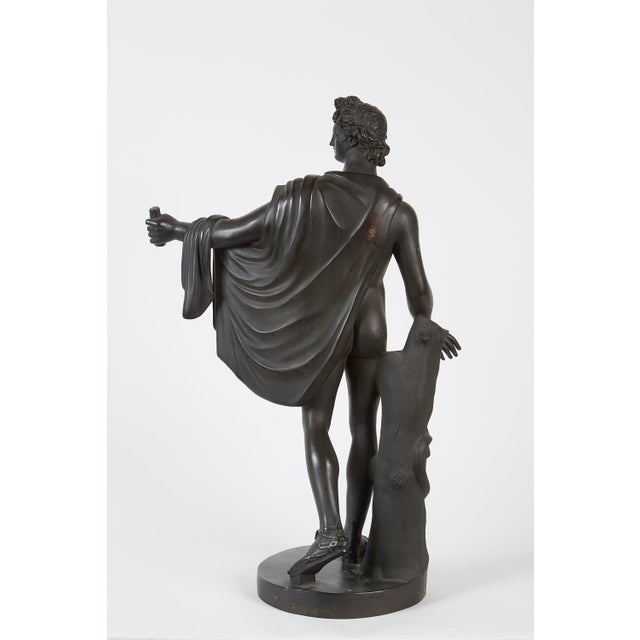 Late 19th Century French Bronze Sculpture of Apollo Belvedere - Image 6 of 6