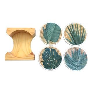 Vintage Greenery Coasters - Set of 4