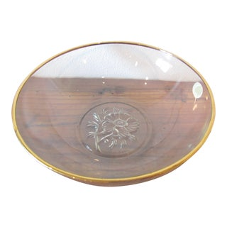 Mid-Century Modern 22kt Gold Gilded Decorative Bowl