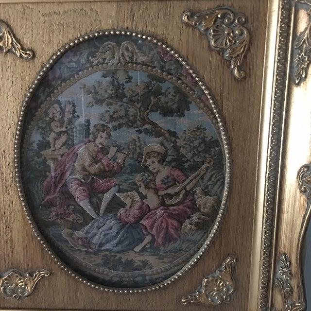 Vintage Parisian Framed Tapestry - Image 4 of 6