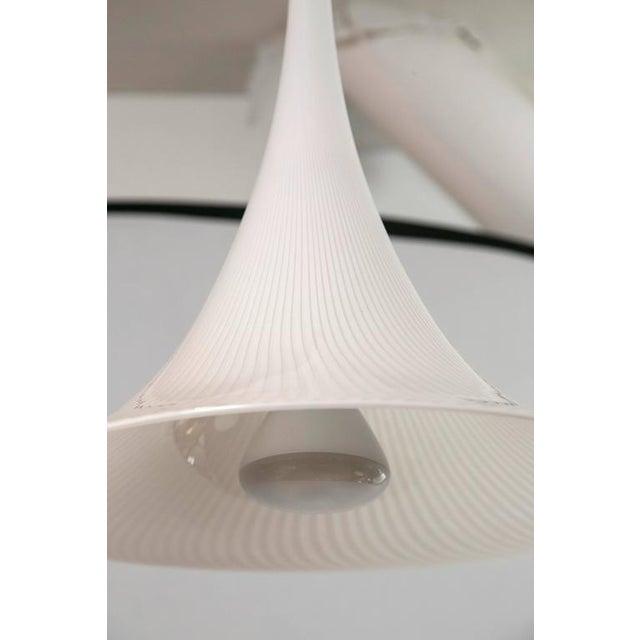 Murano Swirl Glass Cone Pendant Light - Image 3 of 7