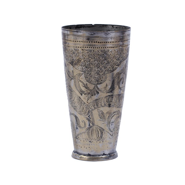 Vintage Brass Lassi Cup - Image 1 of 2