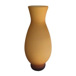 Marigold Satin Glass Vase
