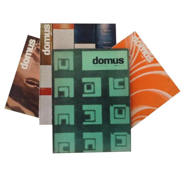 Image of Mid-Century Domus Magazines- Set of 4