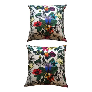 Designer Botanical Pillows - a Pair