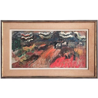 Mid-Century Oil on Canvas Signed Dorothy Grotz