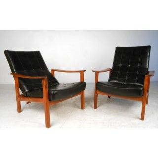 Unique Mid-century Modern Bröderna Andersson Teak Recliner Lounge Chairs - a Pair