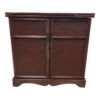 Maroon Painted Bamboo Server