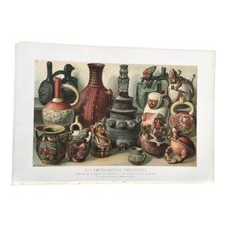 Antique Meyer's Pottery Chromolithograph