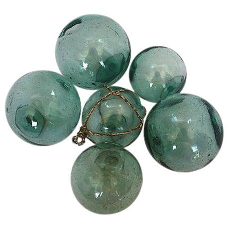 Vintage Japanese Glass Fishing Floats - Set of 6 - Image 1 of 4