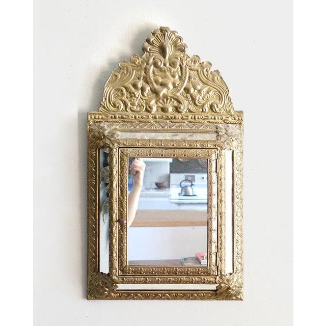 Vintage Brass Cabinet Mirror - Image 2 of 7