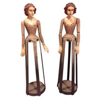 Vintage Reproduction Santos Cage Dolls - A Pair